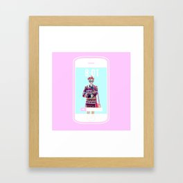 Tiffany Phone Framed Art Print
