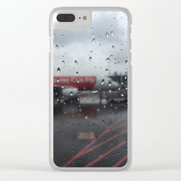 Water Drops On Plane Window Clear iPhone Case