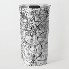 Moscow White Map Travel Mug