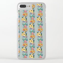 Floral garland pattern Clear iPhone Case
