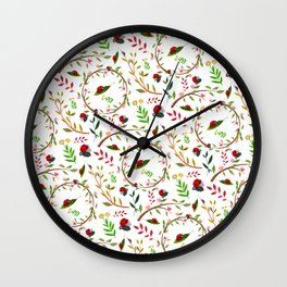 Ladybugs in the Forest Wall Clock