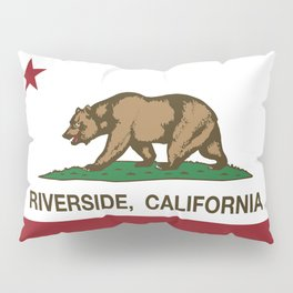 Riverside California Republic Flag Pillow Sham