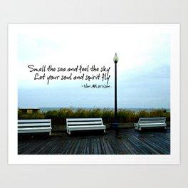 Smell the sea... Art Print