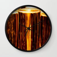 champagne Wall Clocks featuring Champagne  by Al Robinson