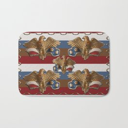 Bronze American Eagles Bath Mat