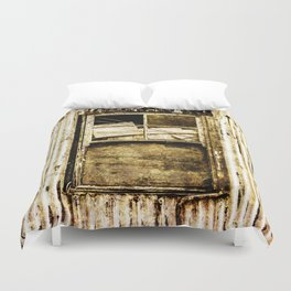 Window in a tin wall Duvet Cover