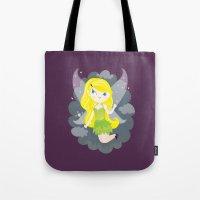 fairy Tote Bags featuring Fairy by Maria Jose Da Luz