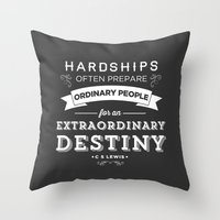 pocketfuel Throw Pillows featuring CS Lewis - Extraordinary by Pocket Fuel