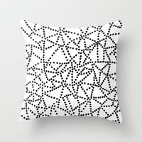 dots Throw Pillows featuring Dots by Project M