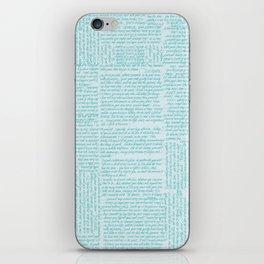 Desiderata in handwriting iPhone Skin