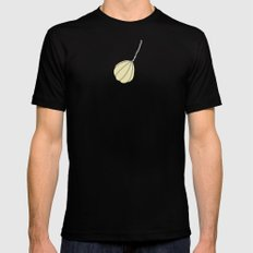 Provolone (cheese pattern) Mens Fitted Tee Black MEDIUM
