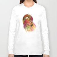 birds Long Sleeve T-shirts featuring birds  by mark ashkenazi