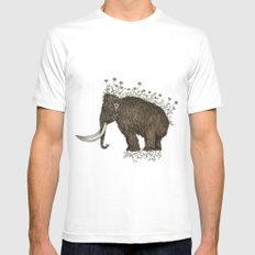 mammoth in bloom MEDIUM Mens Fitted Tee White