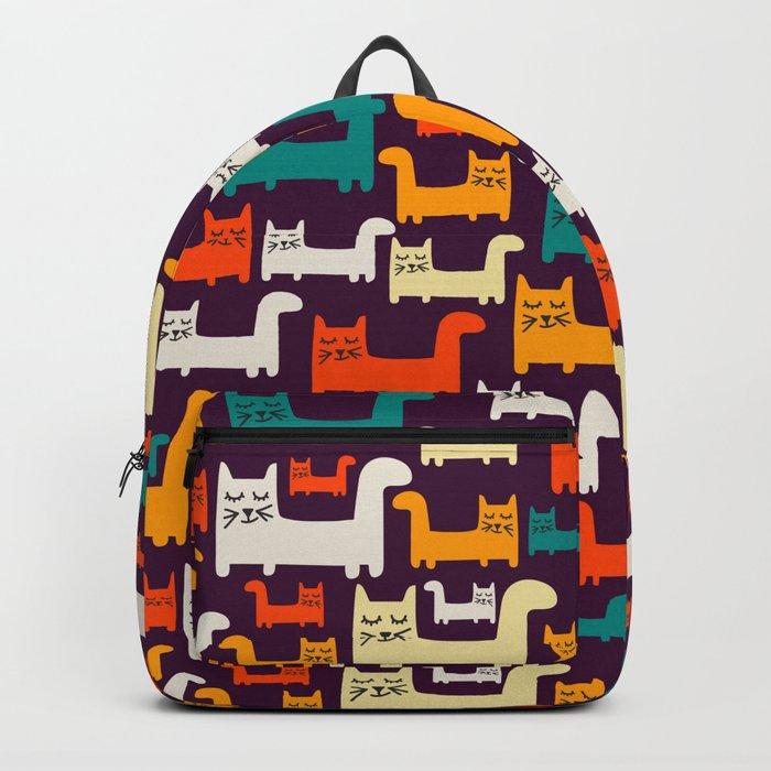 City Of Kitties Pattern Backpack