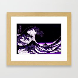 The Great Wave : Purple Framed Art Print