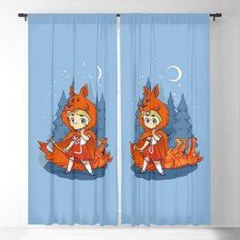 Red Hood Wolf Blackout Curtain