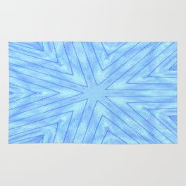 Turquoise & Blue Paper Snowflakes Rug