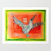 DANCING BIRD Art Print