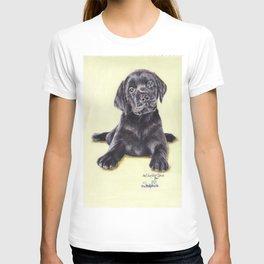 Original Pet Animals Artwork (non-profit) - Labrador Puppy Dog Pastel T-shirt