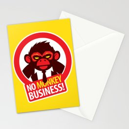 No MONKEY Business! Stationery Cards