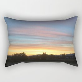 Rainbow Sunrise Rectangular Pillow