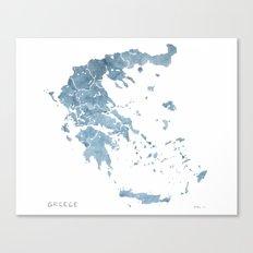 Greece watercolor map Canvas Print