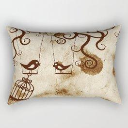 Two Birds Rectangular Pillow