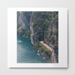 Street around the lake. Metal Print