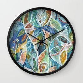 Secret Garden by Justine Aldersey-Williams Wall Clock