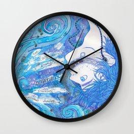 Synesthetic Soliloquies Wall Clock