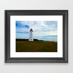 Point Prim Lighthouse and Shore Framed Art Print
