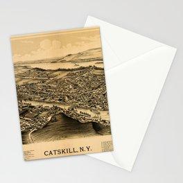 Map Of Catskill 1889 Stationery Cards