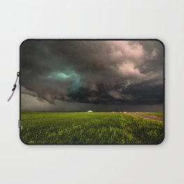 May Thunderstorm - Twisting Storm Over House in Colorado Laptop Sleeve