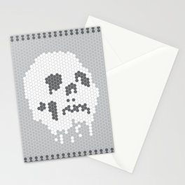 Skull Tile Stationery Cards