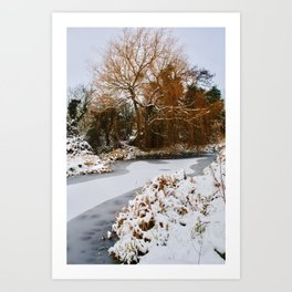 The Old Mill Stream in Winter Art Print