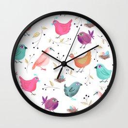 Bird Nests Wall Clock
