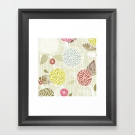 Abstract Floral Beige by Friztin Framed Art Print