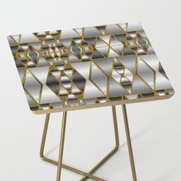 Gray Ombre Abstract Geometry Side Table