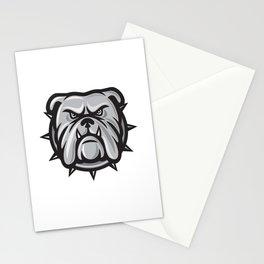 angry bulldog head Stationery Cards