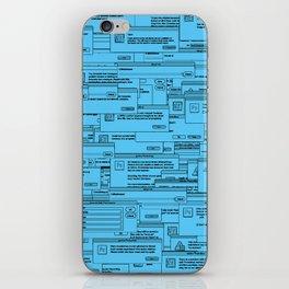 Designer Dialogues PS Blue iPhone Skin