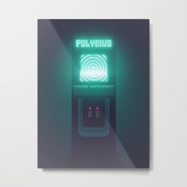 Polybius Arcade Game Machine Cabinet - Front Black Metal Print