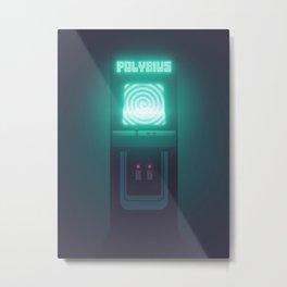 Polybius Arcade Game Machine Cabinet - Front Black Metal Print
