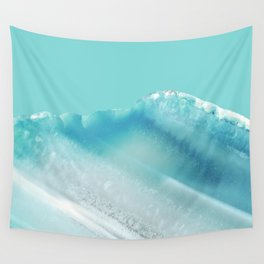 Geode Crystal Turquoise Blue Wall Tapestry