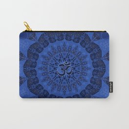 Mandala pattern yoga sign namaste navy dark blue cobalt Carry-All Pouch