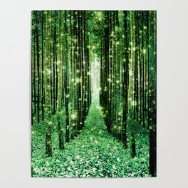 Magical Forest Green Elegance Poster