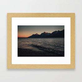 Pink Tetons (wide) Framed Art Print