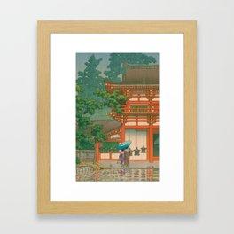 Kawase Yusui made Nara Kasuga Taisha Framed Art Print