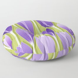 Saffron Garden Floor Pillow