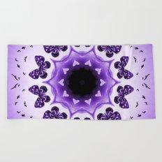 All things with wings (purple) Beach Towel