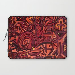 Red simbols Laptop Sleeve